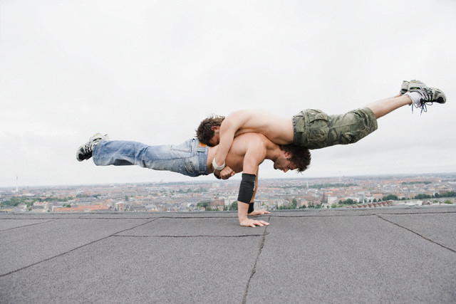 Men Doing Acrobats